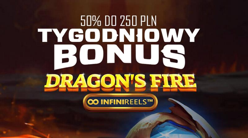 Tygodniowy bonus w  Dragon's Fire infinireels!